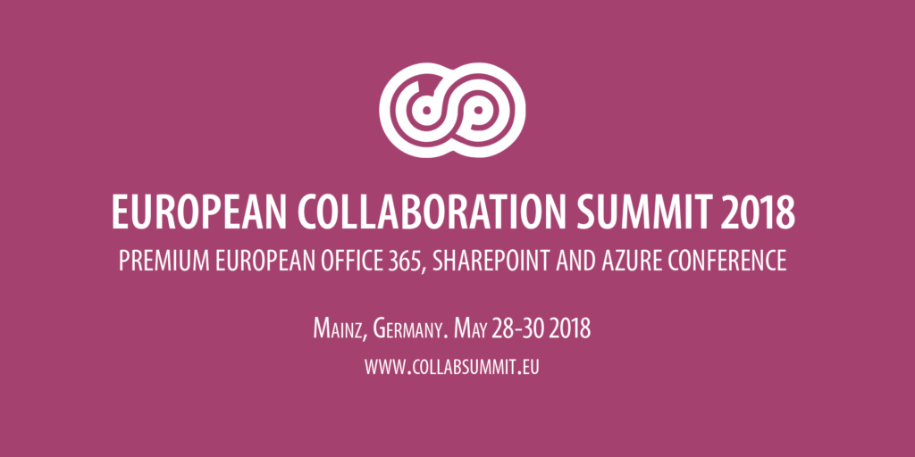 European collaboration summit 2018