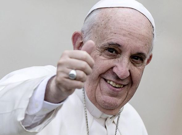 Pope Francis Thumbs Up - Source: Express.co.uk