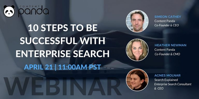 Webinar - 10 Steps to Be Successful with Enterprise Search