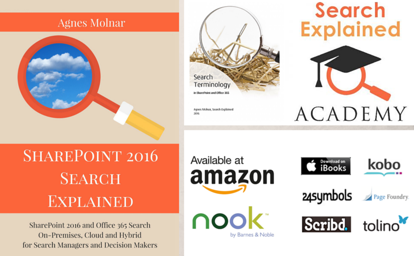 SharePoint 2016 Search Explained book n Amazon, Nook, iBooks, 24symbols, Scribd, Kobo, Page Foundry, Tolino