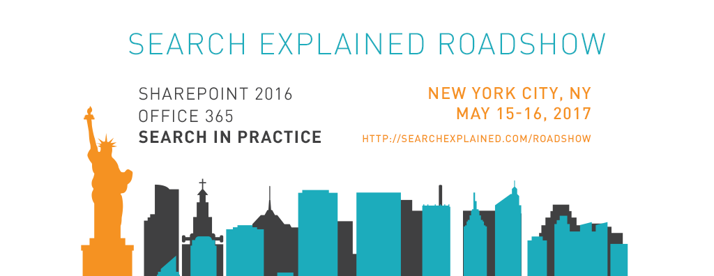 SharePoint 2016 Office 365 Search in Practice workshop New York City, NY