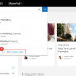 How to get to the classic search UI from a modern page in Office 365?