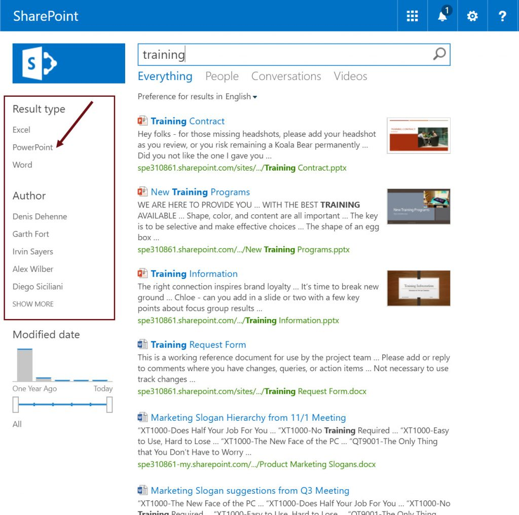 Search Refiners In Sharepoint 2013 2016 And Office 365 Search Explained