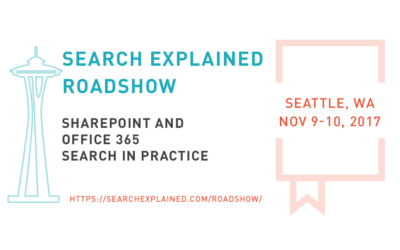 SharePoint and Office 365 Search in Practice – Premium Workshop in Seattle, WA