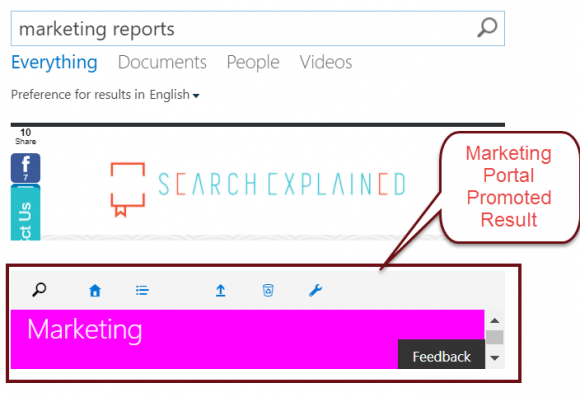 SharePoint Search Query Rule Promoted Result