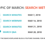 Topic of March: Search Metadata – What? Why? How?