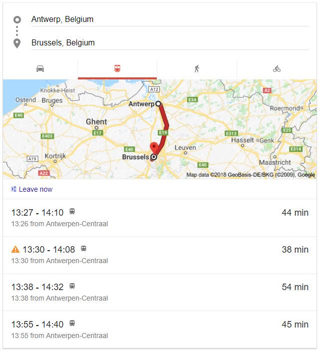 google-search-train-schedule