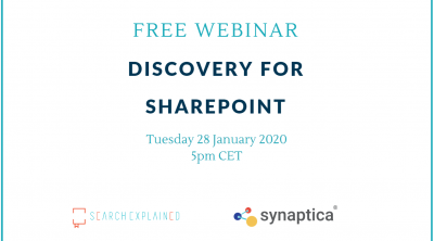 Discovery for SharePoint: Free webinar by Search Explained & Synaptica