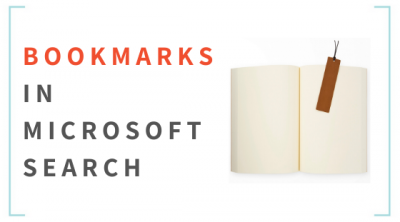 Bookmarks in Office 365 Microsoft Search