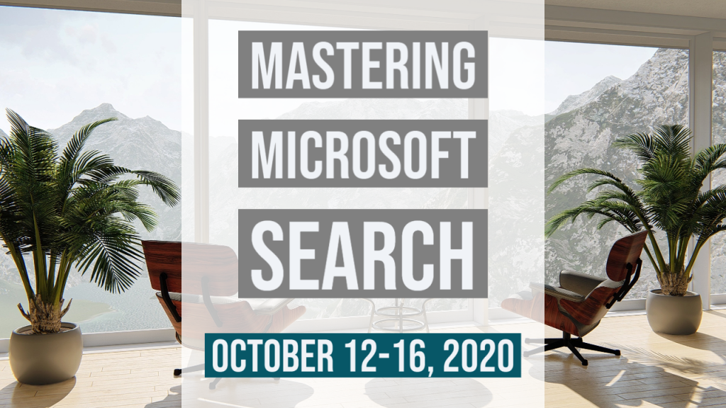 Mastering Microsoft search - online course